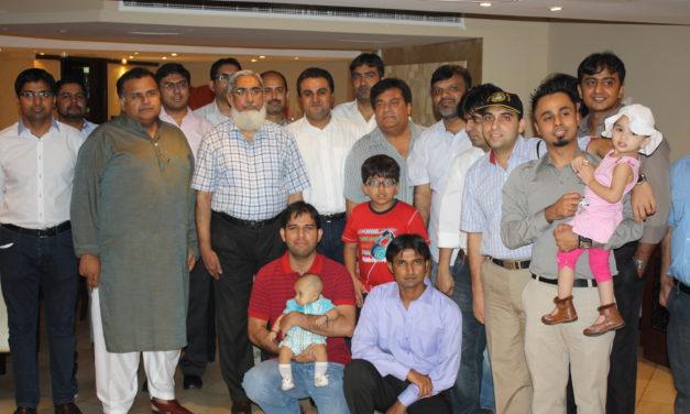 DINNER with Prof. Anwar Ali Shah (VP) and Maj. Adnan Sharif (adjutant) at Dubai – 24 June 2011